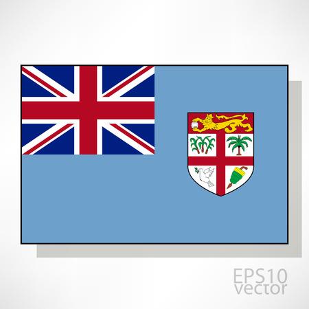 fiji: Fiji flag illustration