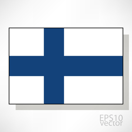 bandera de finlandia: Finlandia ilustraci�n de la bandera