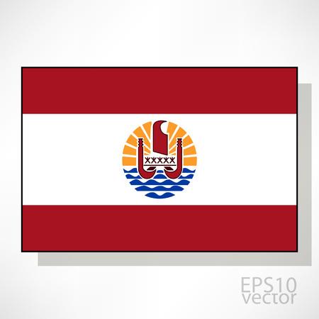 french flag: French Polynesia flag illustration Illustration