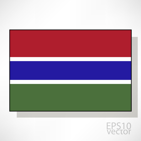 gambia: Gambia flag illustration Illustration