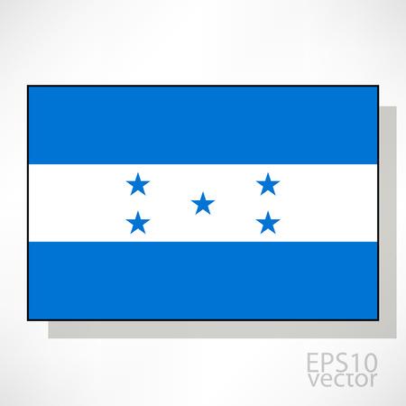bandera de honduras: Honduras ilustraci�n de la bandera