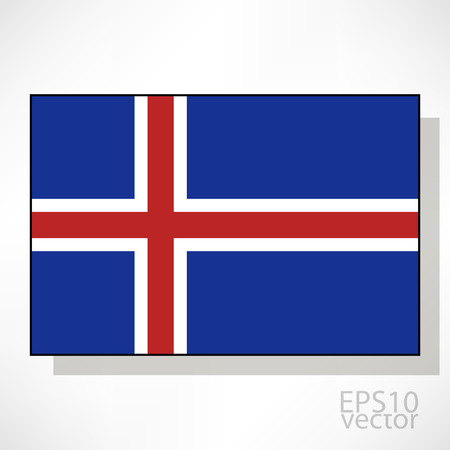 flag of iceland: Islandia ilustraci�n de la bandera Vectores