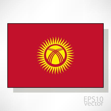 kyrgyzstan: Kirguist�n ilustraci�n de la bandera