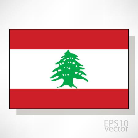 Lebanon flag illustration Vector