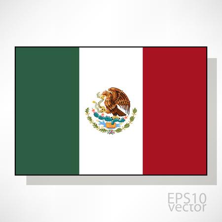 bandera mexico: Bandera de ilustraci�n de M�xico Vectores