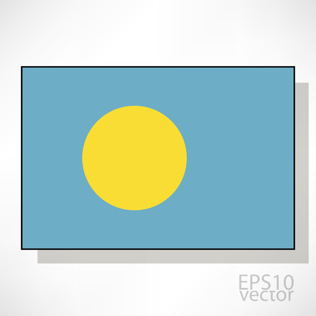 palau: Palau flag illustration Illustration