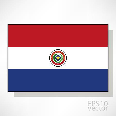 bandera de paraguay: Paraguay ilustraci�n de la bandera
