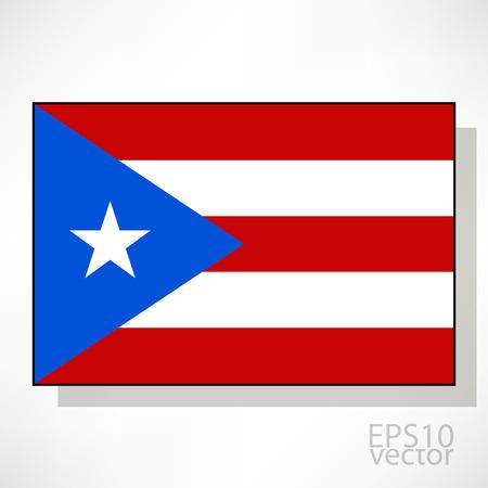 bandera de puerto rico: Puerto Rico ilustraci�n de la bandera