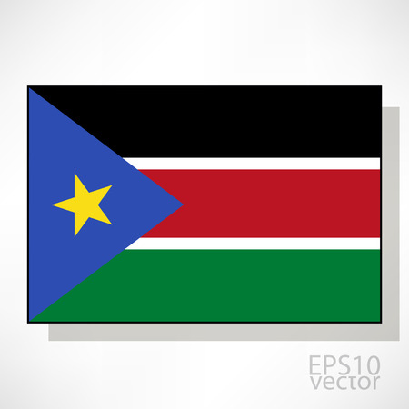 sudan: South Sudan flag illustration Illustration