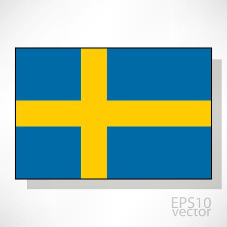 bandera de suecia: Suecia bandera ilustraci�n