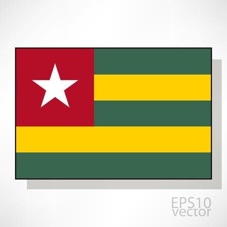 togo: Togo flag illustration