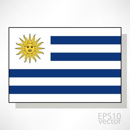 Uruguay flag: Uruguay ilustraci�n de la bandera