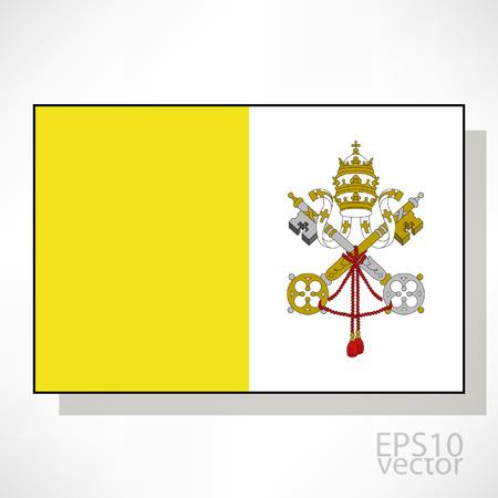 ciudad del vaticano: Ciudad del Vaticano ilustraci�n de la bandera Vectores