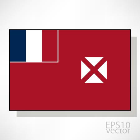 wallis: Wallis and Futuna flag illustration Illustration