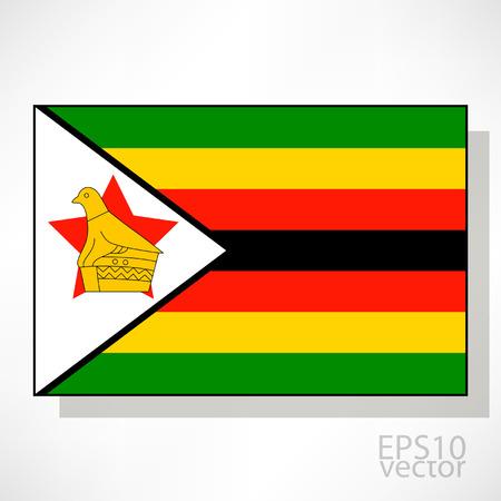 zimbabwe: Zimbabwe flag illustration