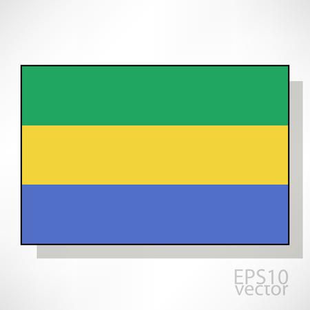 gabon: Gabon flag illustration