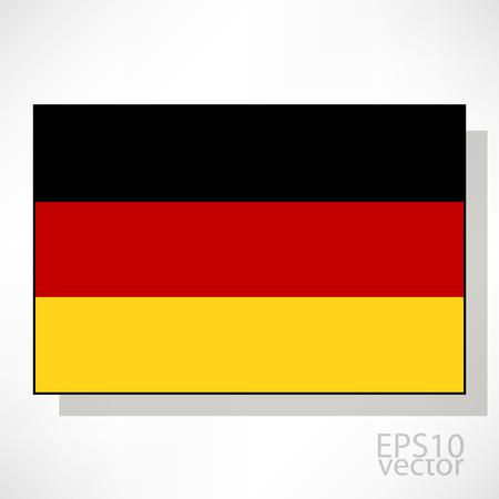 bandera alemania: Alemania bandera ilustraci�n