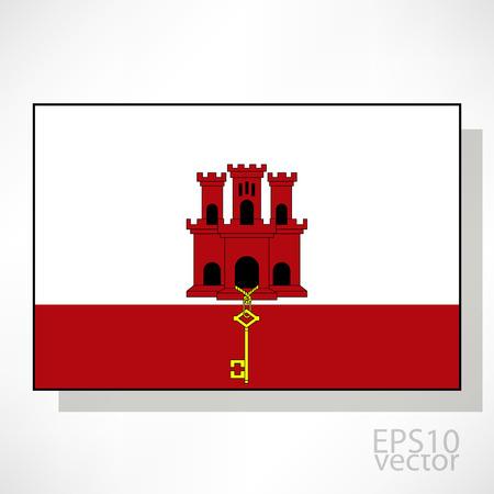 gibraltar: Gibraltar flag illustration Illustration