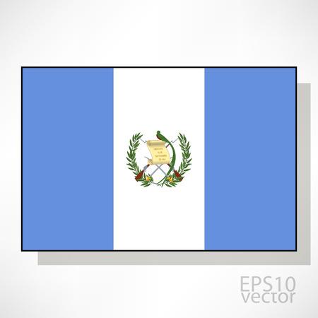 bandera de guatemala: Guatemala ilustraci�n de la bandera