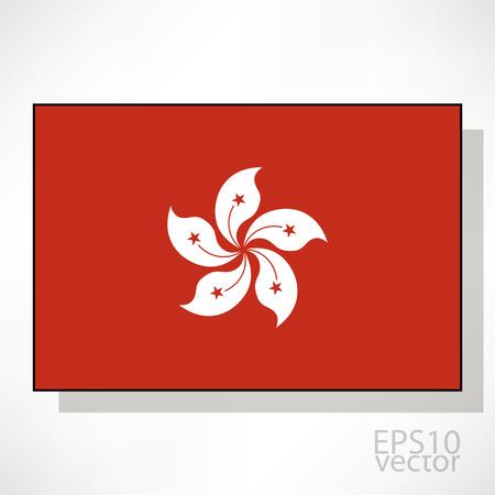 kong: Hong Kong flag illustration Illustration