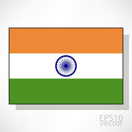 drapeau inde: Inde drapeau illustration