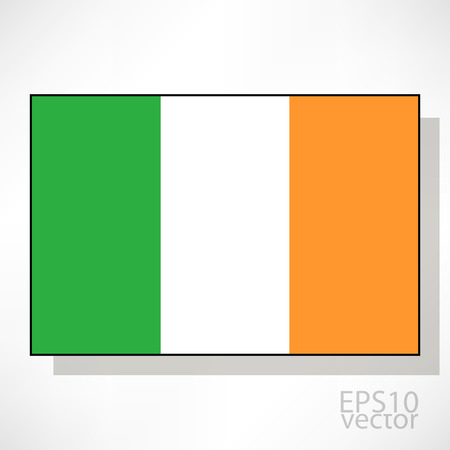 ireland flag: Ireland flag illustration Illustration