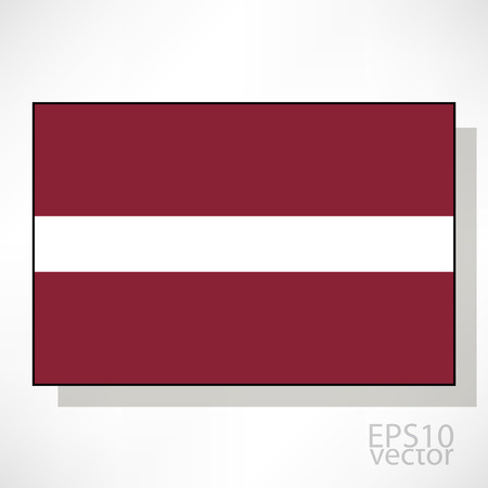 latvia flag: Latvia flag illustration