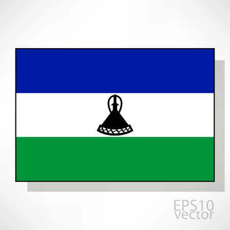 lesotho: Lesotho flag illustration Illustration