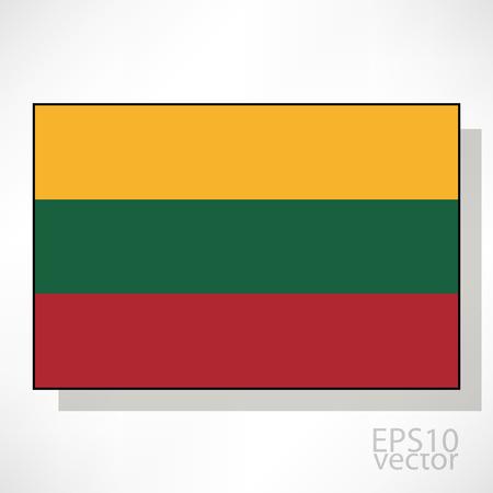 lithuania flag: Lithuania flag illustration