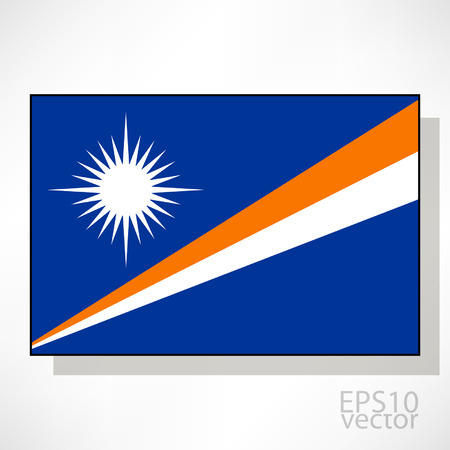 marshall: Marshall Islands flag illustration