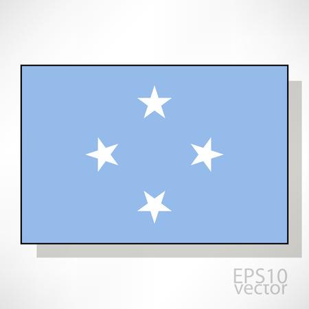 micronesia: Micronesia flag illustration 일러스트