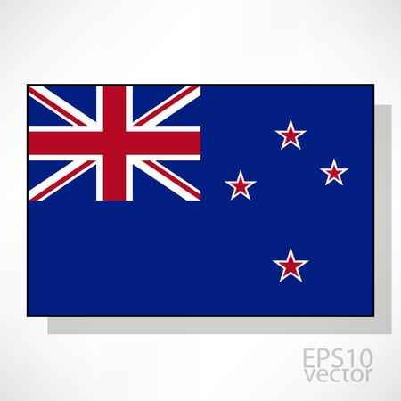 new zealand flag: Nuova Zelanda bandiera illustrazione