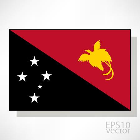 papouasie: Papouasie-Nouvelle-Guin�e drapeau illustration