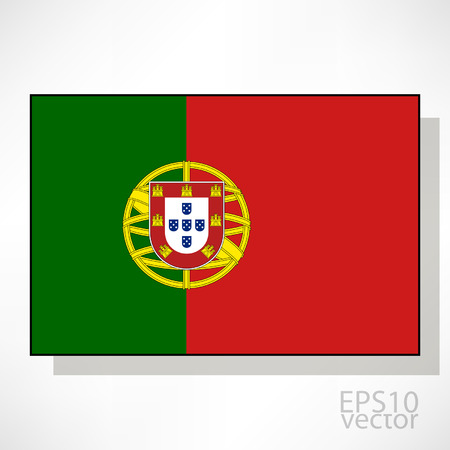 drapeau portugal: Portugal drapeau illustration Illustration