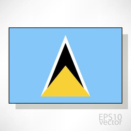 lucia: Saint Lucia flag illustration