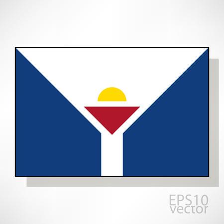 saint martin: Saint Martin flag illustration Illustration