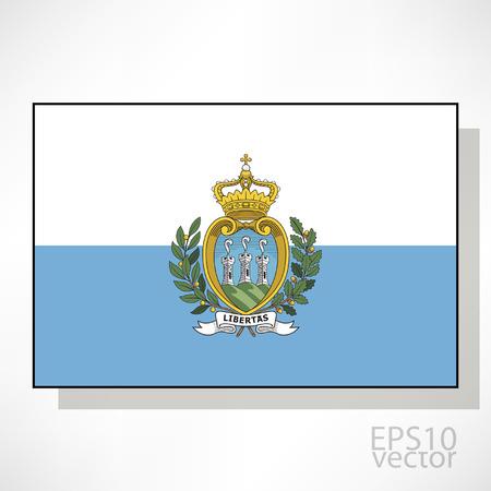 San Marino flag illustration Vector
