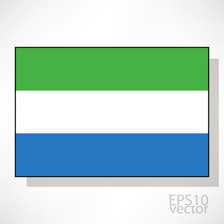 sierra: Sierra Leone flag illustration Illustration