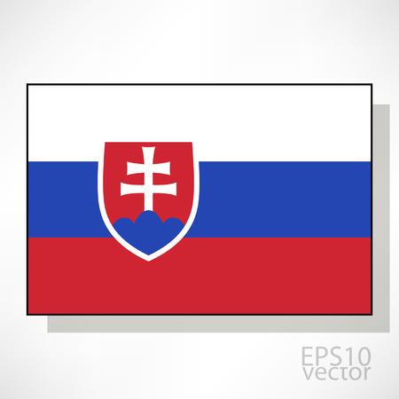 slovakian: Slovakia flag illustration