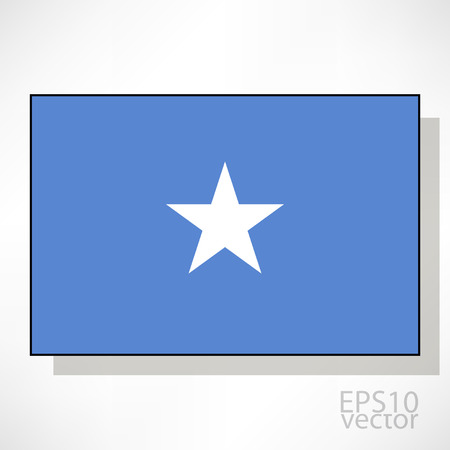 somalian: Somalia flag illustration