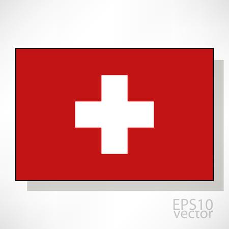 zwitserland vlag: Zwitserland vlag illustratie Stock Illustratie