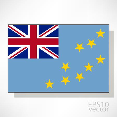tuvalu: Tuvalu flag illustration Illustration