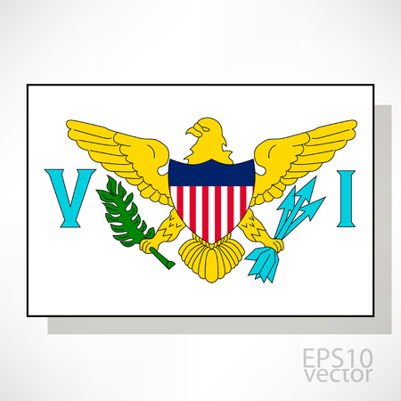 virgin islands: United States Virgin Islands flag illustration