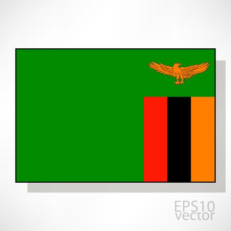 zambian: Zambia flag illustration Illustration