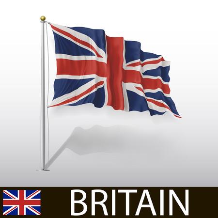 british culture: Flag of Britain Illustration