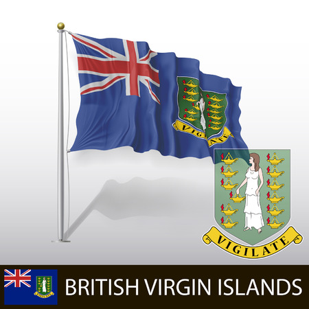 virgin islands: Flag of British Virgin Islands Illustration