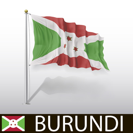 burundi: Flag of Burundi