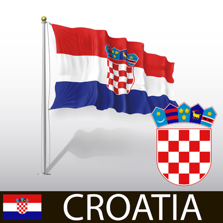 croatia: Flag of Croatia Illustration