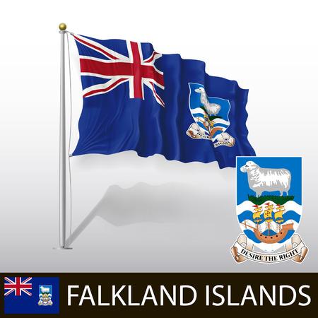 falkland: Flag of Falkland Islands Illustration
