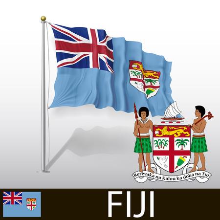 fiji: Vlag van Fiji
